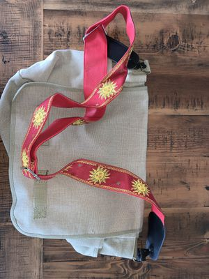 Standard size messenger bag with guitar strap for Sale in Seattle, WA