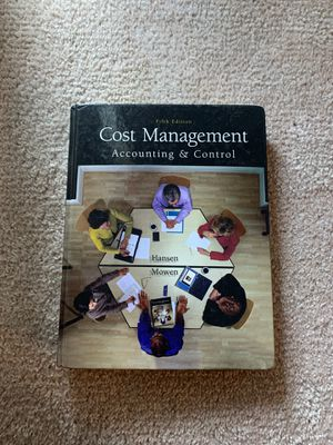 Cost Management: Accounting & Control 5th Edition Hardcover for Sale in Fairfax, VA