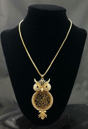 Golden Tone Charming Owl Necklace for Sale in Cypress, CA