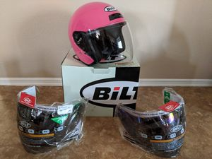 BILT Pink Ladies Motorcycle Helmet Size X SMALL DOT Approved with extra facemasks Moped for Sale in Phoenix, AZ