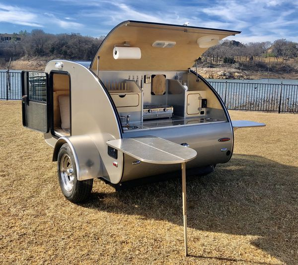 This is a fully hand built teardrop camper, we have built this from ground up.