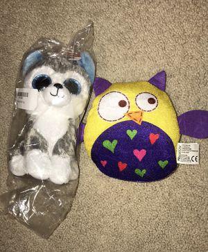 Beanie Boos Slush Dog and Plus Owl stuffed animals for Sale in Scottsdale, AZ