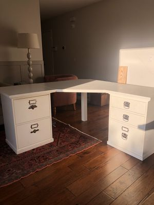 Pottery Barn Desk with Filing Cabinets for Sale in Encinitas, CA