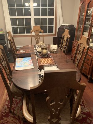 Antique table and china for Sale in East Stroudsburg, PA