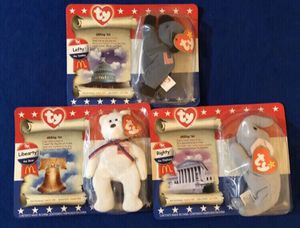 Ty American Trio Beanie Babies Set of (3) McDonald's for Sale in San Antonio, TX