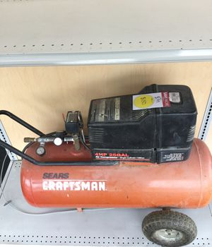 Sears craftsman for HP 25 gallon air compressor single cylinder/oil free for Sale in Kansas City, MO