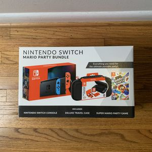 Brand New! Nintendo Switch Bundle with Mario Party & Case for Sale in Reston, VA