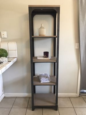 "72"" 5 Shelf Narrow Bookcase Gray for Sale in Bakersfield, CA"