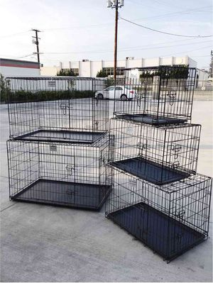 """New $25 to $65 range 24"""" 30"""" 36"""" 42"""" 48"""" foldable 2 doors dog cage crate kennel collapsible jaula de perro for Sale in Los Angeles, CA"""
