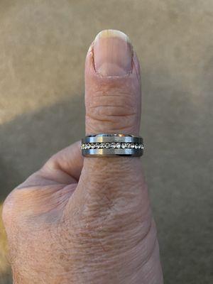 Men's titanium wedding ring/band Size 11 New for Sale in CARPENTERSVLE, IL