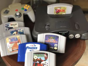 Nintendo 64 N64 with 7 games including my Zelda and Starfox. Comes with all cables and 1 controller for Sale in Austin, TX