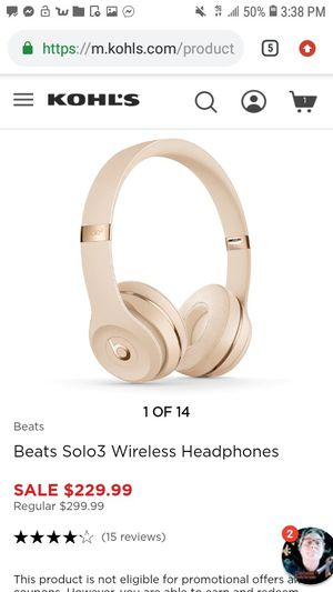 Beats solo 3's for Sale in Minneapolis, MN