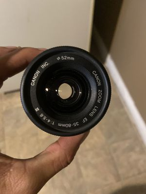 Cannon EF 35-80mm 1.4-5.6 is ZOOM LENS for Sale in Vista, CA