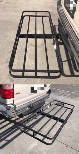 New in box XL large 62x23x5 inches 2 inch receiver mount hitch mount travel luggage basket rack 500 lbs capacity with pin for Sale in Covina, CA