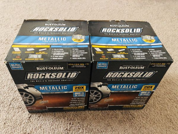 Rust-Oleum RockSolid 70 oz. Metallic Copper Pot Garage Floor Kit (2-Pack)