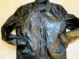 Leather Biker Jacket size Large for Sale in New Haven, CT