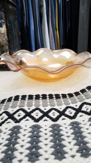 Orange depression era glass scalloped bowl, 9.5 in for Sale in Norwalk, CA