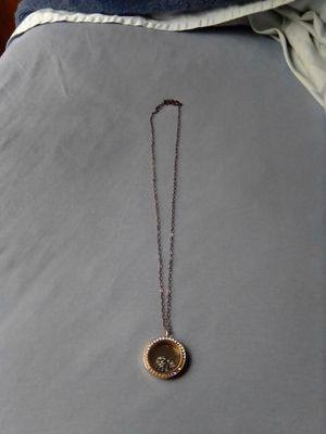 Rose gold necklace with origami owl Swarovski locket for Sale in Westminster, CA