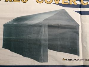 Commercial Have Duty 10 X 20 Ft Canopy 1.1/2 Tubing Diameter easy to assemble in 20 minutes no tools need, comes with everything with heavy duty tar for Sale in San Diego, CA