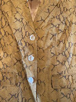 NWT Genuine Leathe Jacket Snake Skin Print for Sale in Smiths Station,  AL