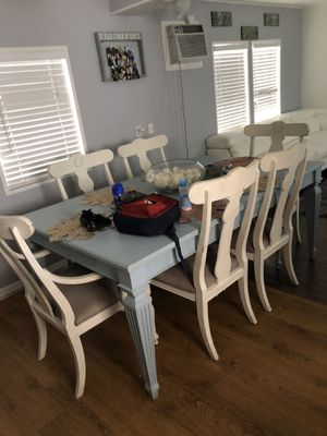 Antique wood table with 6 chairs for Sale in West Palm Beach, FL