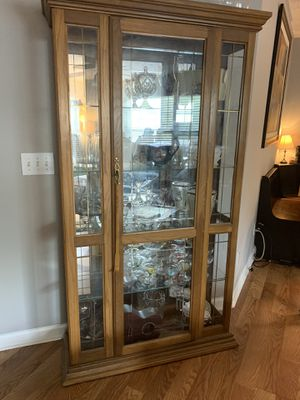 Lighted Antique Curio/China Cabinet for Sale in Canton, GA