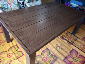 Metal Faux Wood Patio Table for Sale in Vancouver, WA