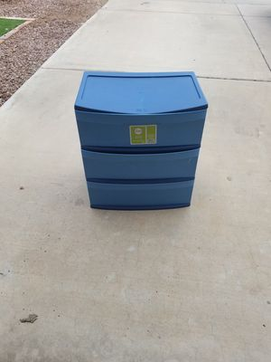 Blue three drawer storage unit for Sale in Glendale, AZ