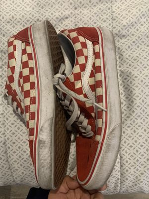 Red checkered vans for Sale in Bellflower, CA