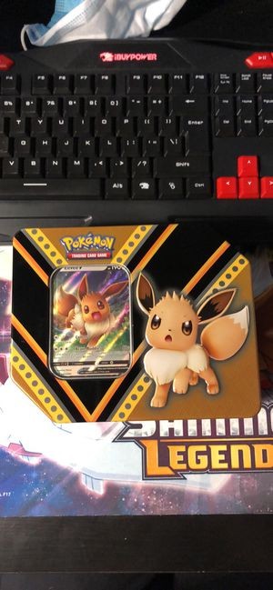 Eevee pokemon empty tin with promo for Sale in Orlando, FL