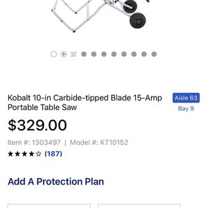 Kobalt Portable Table Saw for Sale in Miami, FL