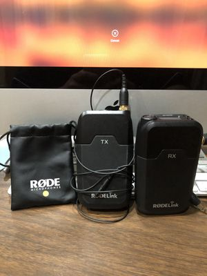 Rode RodeLink Wireless Filmmaker Kit - Transmitter and Receiver for Sale in Hoffman Estates, IL