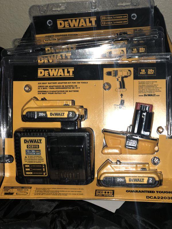DeWalt 18V adapter kit BRAND NEW $100