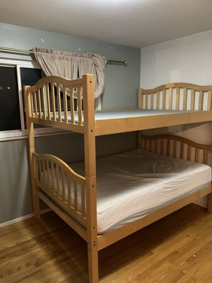 REAL WOOD BUNK BED (FULL SIZE) for Sale in San Leandro, CA