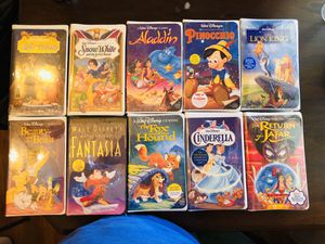 Walt Disney Master Pieces 10 VHS Tapes for Sale in San Leandro, CA