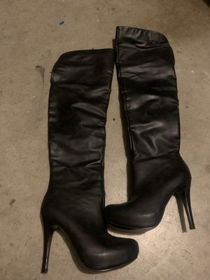 Knee high black boots for Sale in Walnut Creek, CA