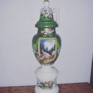 Antique bristol glass hand painted base for Sale in Miami, FL