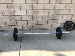 """York 2"""" Olympic weight set 400lbs for Sale in Alhambra, CA"""