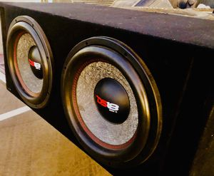 3000 Watt Monoblock Amp / GENX DS18 12 inch Subs / dual vented sub box for Sale in Sanger, CA