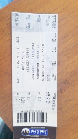 Slipknot Roadshow Tour Denver Tickets for Sale in Colorado Springs, CO