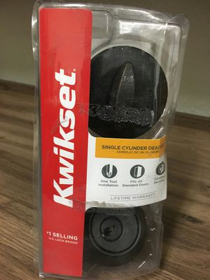 Kwikset Venetian bronze single cylinder deadbolt for Sale in Mesa, AZ
