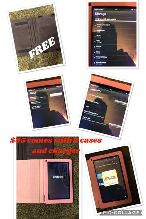 Kindle Fire 5.5gb pink and brown case included for Sale in Missoula, MT