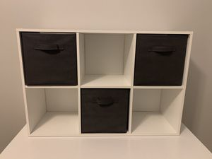 Shelf with 3 Cubby Drawers for Sale in Phoenix, AZ