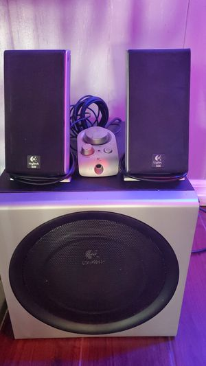 Computer speakers with sub for Sale in Emden, IL