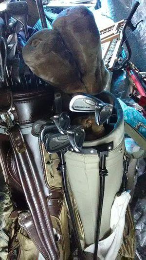 2 sets of golf clubs with bag boy club caddy for Sale in Gresham, OR