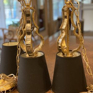 Beautiful Pendant Lights-black Shades for Sale in Virginia Beach, VA