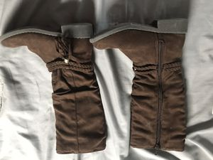 Girls brown slouch boots size 12 for Sale in Anderson, IN