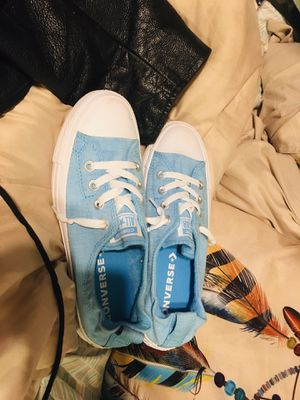 Womens size 8 baby blue converse for Sale in Glidden, TX