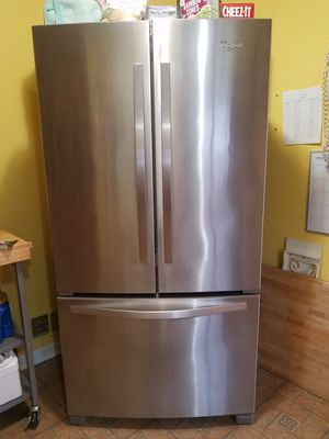 Whirlpool stainless steel refrigerator for Sale in Falls Church, VA