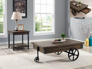 WAGON WHEEL COFFEE TABLE,VERY UNIQUE STYLE ON SALE for Sale in Austin, TX